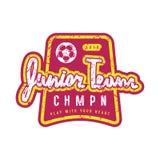 Emblem of soccer junior team Royalty Free Stock Photography
