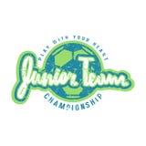 Emblem of soccer junior team Stock Images