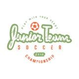 Emblem of soccer junior team Royalty Free Stock Photos