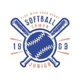 Emblem of softball junior team Royalty Free Stock Photo