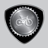 Emblem som cyklar kugghjuldesign Fotografering för Bildbyråer
