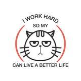 Emblem som märker katten ocks? vektor f?r coreldrawillustration vektor illustrationer