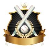 Emblem of sport baseball champion Stock Image