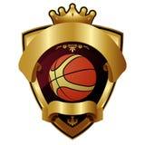 Emblem of sport basketball champion Stock Photos