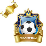 Emblem of sport champion Royalty Free Stock Photos