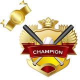 Emblem of sport champion Royalty Free Stock Images