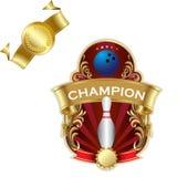 Emblem of sport champion Stock Image