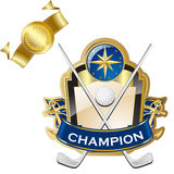 Emblem of sport champion Stock Photography