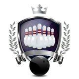 Emblem of sport champion Bowling Royalty Free Stock Photo