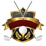 Emblem of sport champion Golf Stock Photography