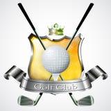 Emblem of sport champion Golf Stock Photo