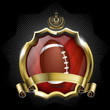 Emblem of sport champion rugby football Stock Photography