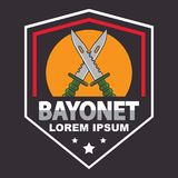 Bayonet logo template stock illustration