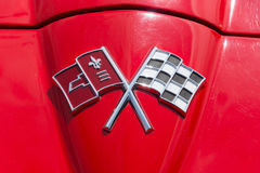 Emblem sports car Chevrolet Corvette Sting Ray (C2) Stock Images