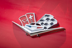 Emblem sports car Chevrolet Corvette Sting Ray (C2) Stock Photo