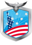Emblem statue of liberty Stock Photos