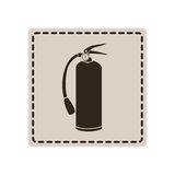 Emblem sticker extinguisher icon. Illustraction design Royalty Free Stock Images