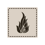 Emblem sticker fire icon. Illustraction design image Royalty Free Stock Photography