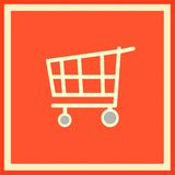 Emblem of a supermarket. The emblem meaning, that nearby is a large supermarket Royalty Free Stock Images