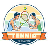 Emblem of tennis tournament. Stock Photos