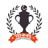 Emblem tennis trophy ball label Royalty Free Stock Photo