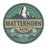 Emblem with text Matterhorn Royalty Free Stock Photo