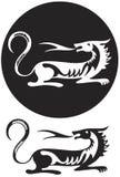 Emblem of tiger stock illustration