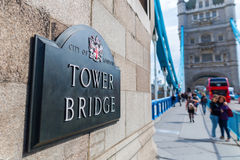 Emblem at the Tower Bridge in London, UK Stock Images