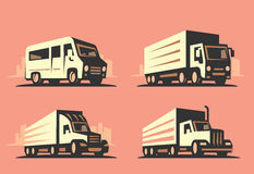 Emblem transportation silhouette Stock Photo