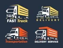 Emblem transportation silhouette Stock Photos
