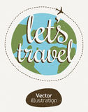 The emblem of the traveler. Tourist sign-style stripes Royalty Free Stock Images
