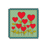Emblem trees balloons form icon Stock Photos