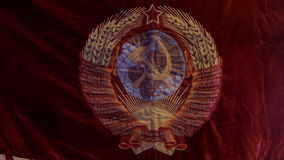 Emblem of the USSR stock video footage
