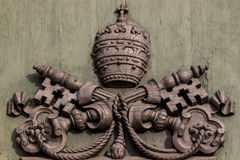 The emblem of the Vatican Royalty Free Stock Photo