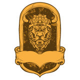 Emblem viking head illustration Royalty Free Stock Image