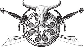 The emblem of the Viking Stock Image