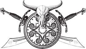 The emblem of the Viking Stock Image