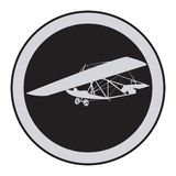 Emblem of an vintage glider Stock Photography