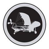 Emblem of an vintage plane Royalty Free Stock Images