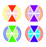 Emblem volume triangles of different sizes Stock Images