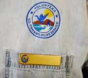 Emblem volunteer us fish wildlife service Stock Photo