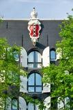 Emblem von Amsterdam in einem Palast, Stockfoto