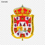 Emblem von Granada Stadt von Spanien lizenzfreie abbildung