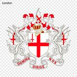 Emblem von London lizenzfreie abbildung