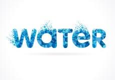 Emblem water inscription Royalty Free Stock Photo
