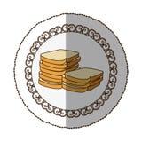 Emblem white bread icon Royalty Free Stock Photo