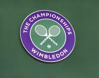 The emblem of Wimbledon tournament Stock Photos