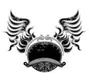 Emblem wing sign Royalty Free Stock Photos
