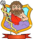 Emblem of Zeus. The Thunderer Stock Image
