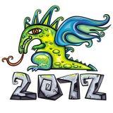 Emblema 2 del dragón Imagen de archivo libre de regalías